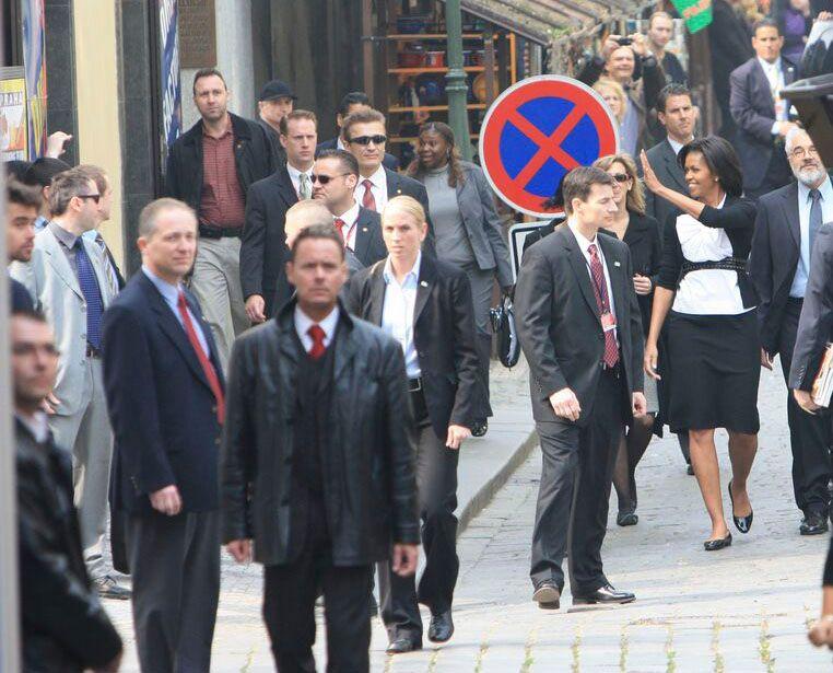 Obama v Praze - Michelle v židovském městě - Aktuálně.cz
