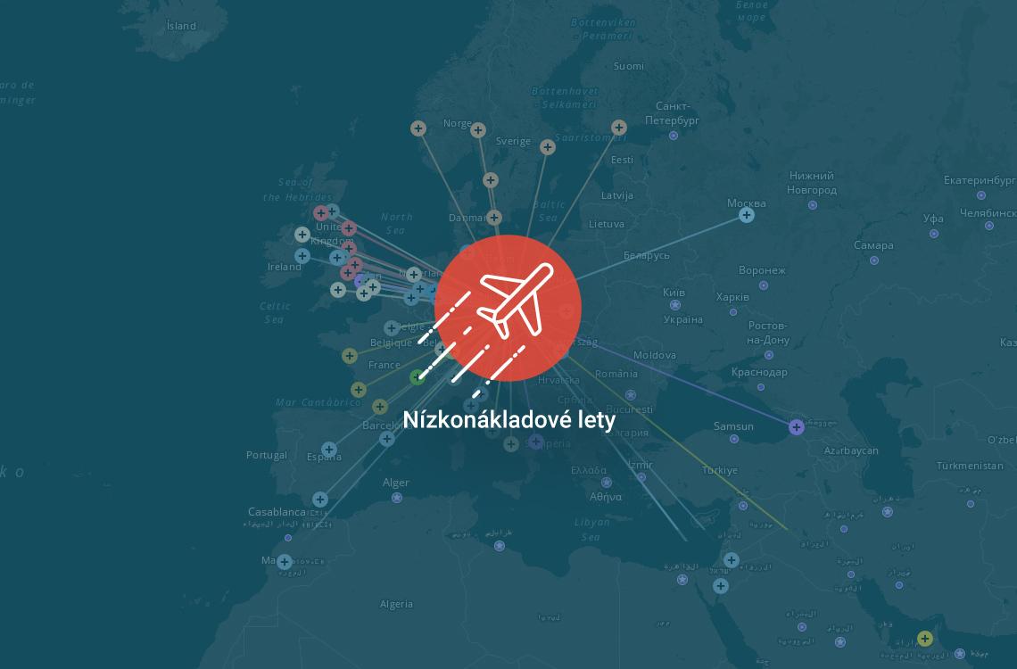 Mapa Nizkonakladovych Aerolinek Vsechny Destinace Z Ceska