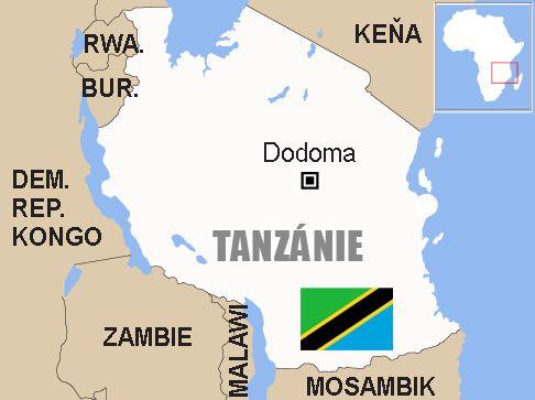 Tanzanie Mapa Aktualne Cz