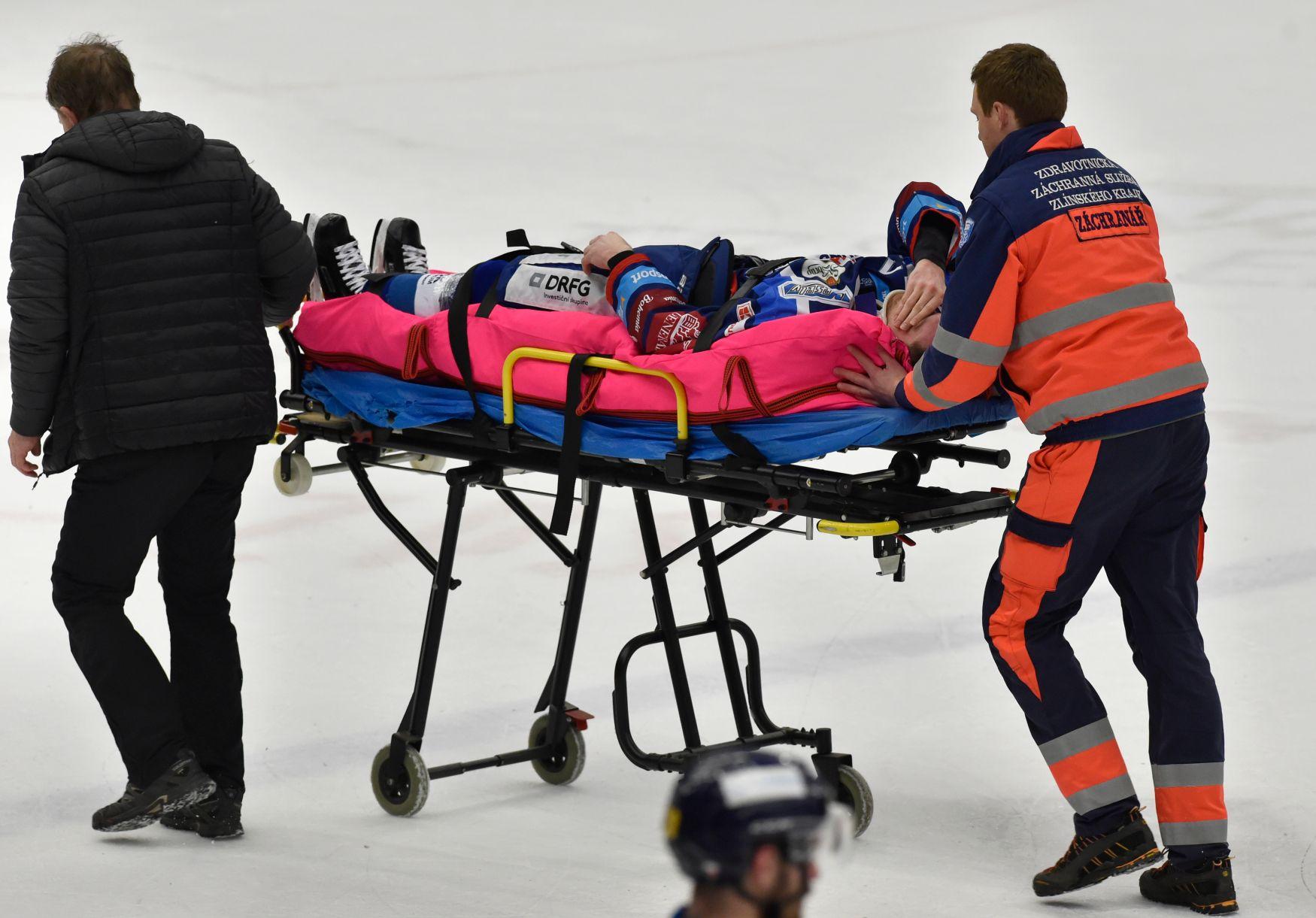 Brno otočilo zápas ve Zlíně, přišlo o zraněného útočníka Kucseru