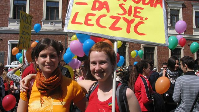 Homophobia is curable, informed a banner displayed during a queer parade in Poland.