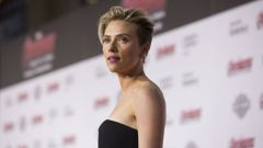 "Cast member Johansson poses at the premiere of ""Avengers: Age of Ultron"" at Dolby theatre in Hollywood"