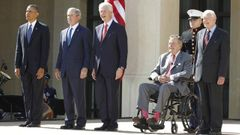 Obama - Bush - Bush senior - Carter - Clinton