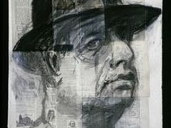 William Kentridge: Self-Portrait [Testing the Library], 1998