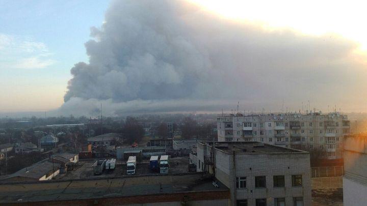 Na východě Ukrajiny vybuchl sklad s 138 000 tunami munice. Byla to sabotáž, tvrdí prokurátor