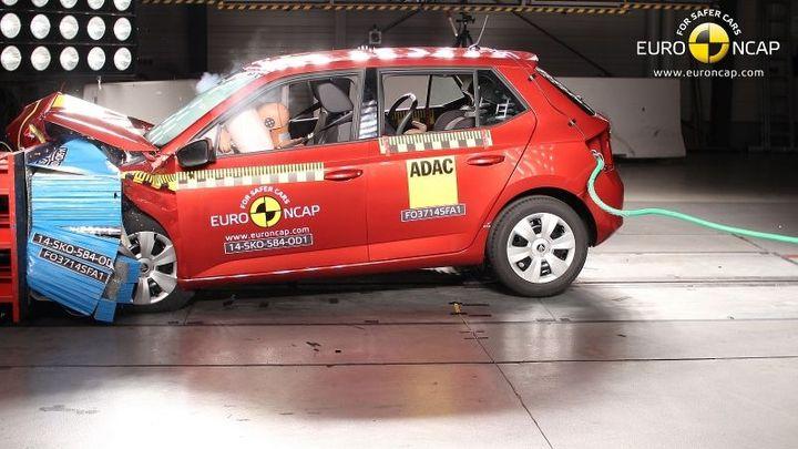 EuroNCAP bourala s novou fabií. Výsledkem je pět hvězdiček
