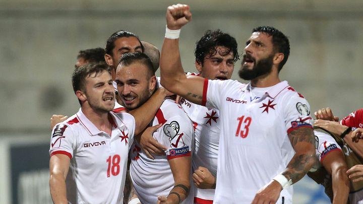 Fotbalisté Malty zachránili bod v osmé minutě nastavení; Zdroj foto: Reuters