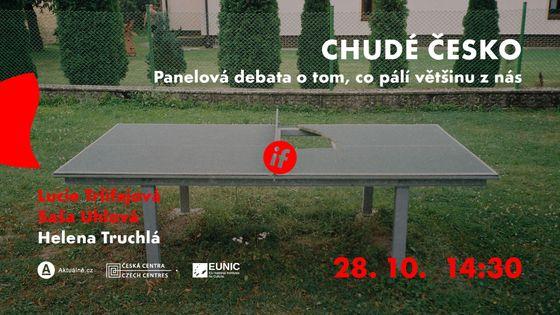 Proč je Česko chudé: Experti hledají bolesti společnosti, další debatu hostí Jihlava