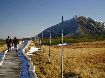 Pod vrcholem Sněžky zemřela česká turistka