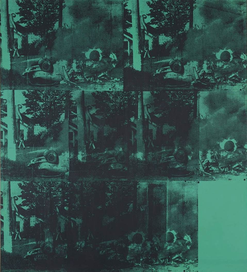 Warhol Green Car Crash