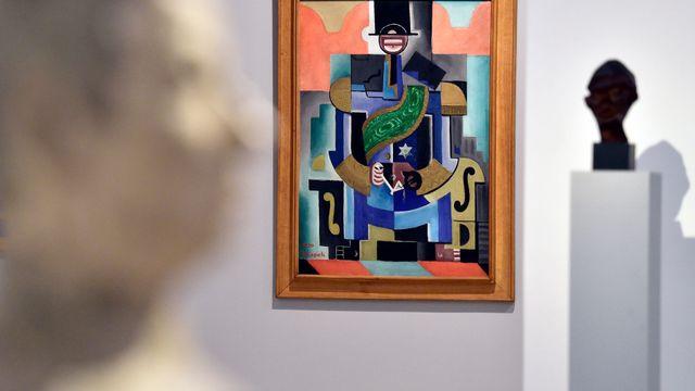 0f4034254e4 Na snímku z expozice 1918-1938  První republika je obraz Černošský král od  Josefa ...