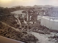 Hiroshima´s Industrial Promotion Hall shortly after the atomic bomb attack