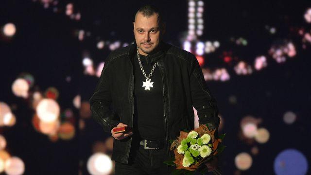 Tomáš Ortel při předávání Bronzového slavíka