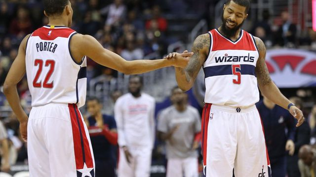 Otto Porter Jr. a Markieff Morris (Washington Wizards)