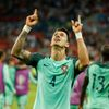 Portugal's Jose Fonte celebrates at the end of the game