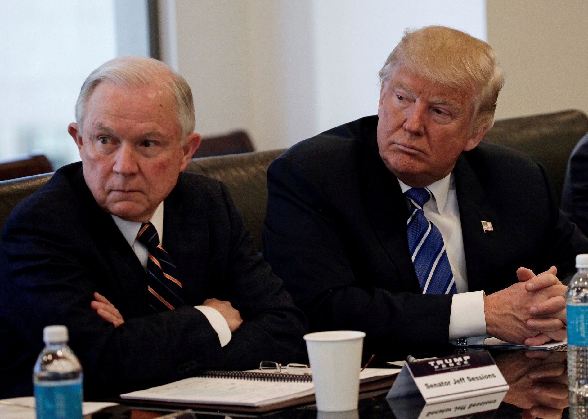 Jeff Sessions s Donaldem Trumpem