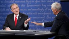 Tim Kaine a Mike Pence