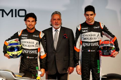 Sergio Pérez a Esteban Ocon - Force India