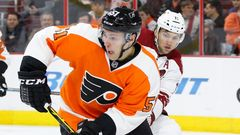 Petr Straka - debut v Philadelphii Flyers