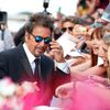 "Cast member Al Pacino signs autographs as he attends the red carpet for the movie ""Manglehorn"" at the Venice Film Festival"