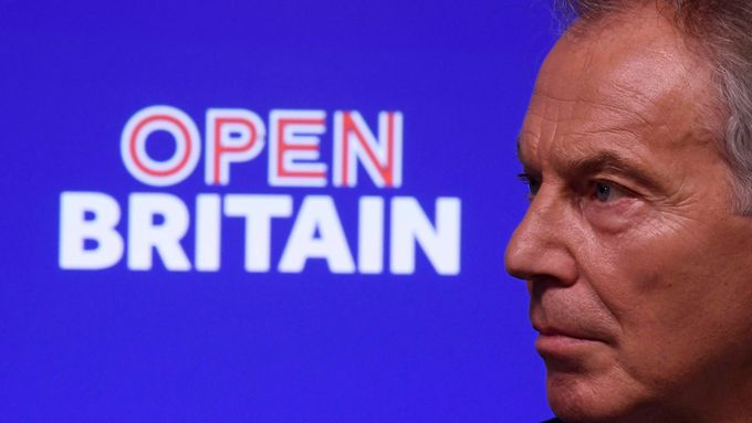 Britský expremiér Tony Blair.