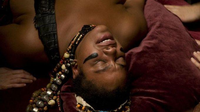 Černá africká nahá