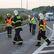 Dálnici D1 u Průhonic uzavřela nehoda dvou nákladních aut, po nárazu začala hořet