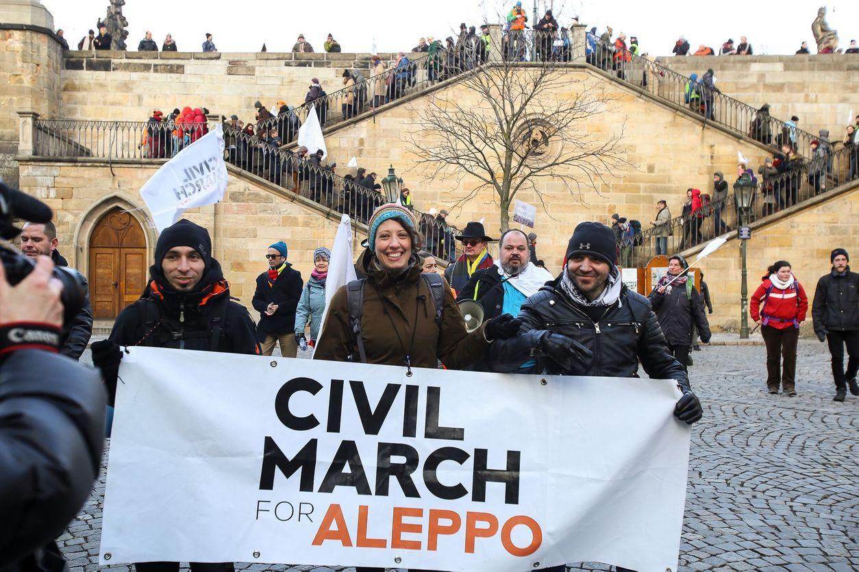 Výsledek obrázku pro Pochod pro Aleppo