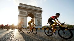 Tour de France - The 128-km Stage 21 from Rambouillet to Paris Champs-Elysees