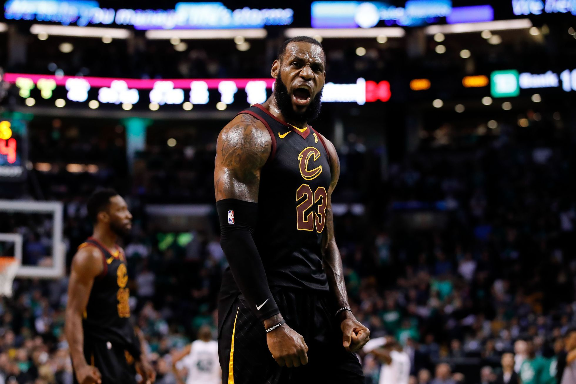 basketbal, NBA 2017/2018, Boston - Cleveland, LeBron James