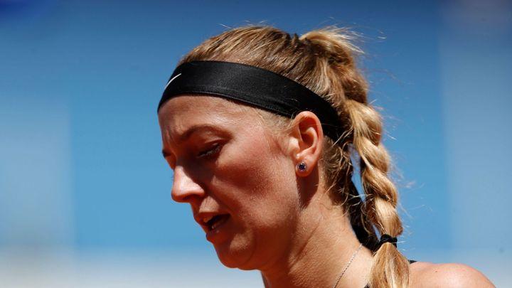 Kvitová odstoupila z Roland Garros. Během rozhovorů upadla a poranila si levý kotník; Zdroj foto: Reuters