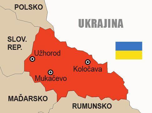 Ukrajina Zakarpatska Rus Mapa Aktualne Cz