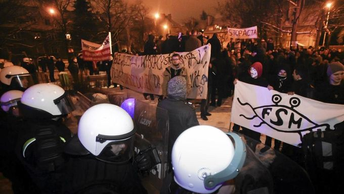 Polské demonstrace proti ACTA