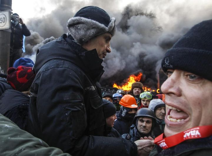 Vitalij Kličko na Majdanu