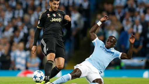Football - Manchester City v Juventus - UEFA Champions League Group Stage - Group D - Etihad Stadium, Manchester, England - 15/9/15 Juventus' Alvaro Morata in action with