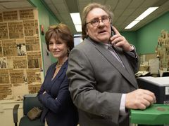 Gerard Depardieu a Jacqueline Bisset ve filmu Abala Ferrary Welcome to New York.
