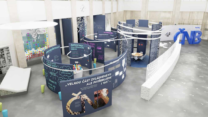 """ČNB buduje okázalé návštěvnické centrum. Za desítky milionů ukáže lidem """"svět peněz"""""""