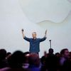 Apple CEO Tim Cook greets the audience during an Apple event announcing the iPhone 6 at the Flint Center in Cupertino