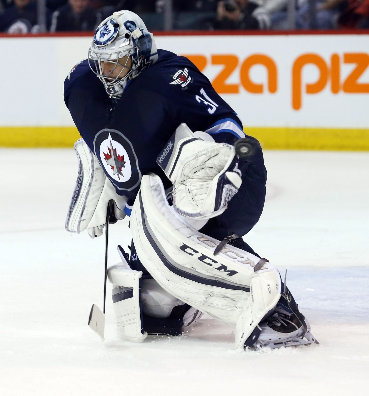 NHL: Winnipeg Jets vs. Chicago Blackhawks (Pavelec)