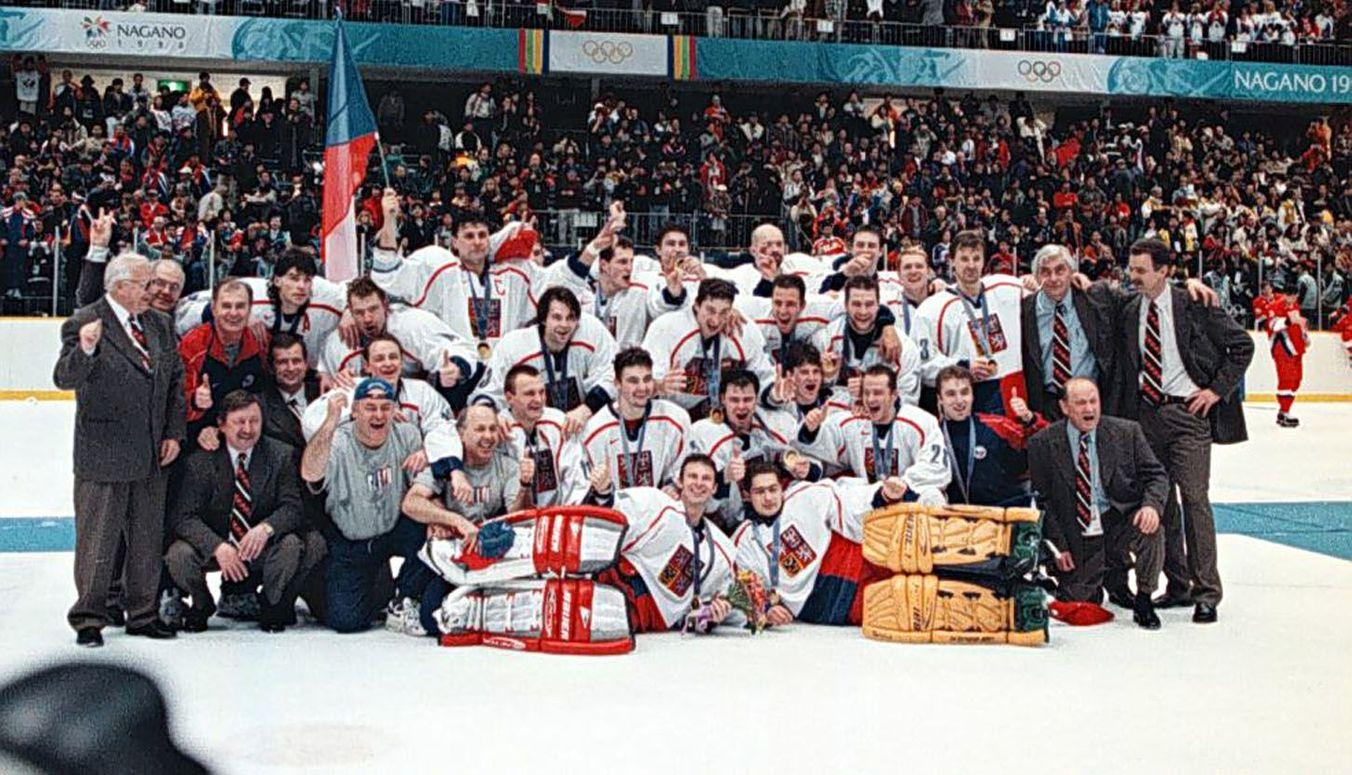 Olympijští vítězové z hokejového turnaje v Naganu 1998