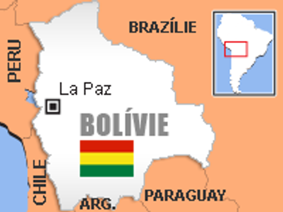 Mapa Bolívie