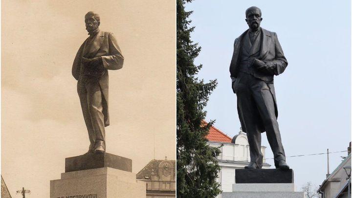 Za protektorátu sochu Masaryka zachránili vlastenci. Komunisti ji rozdrtili na padrť