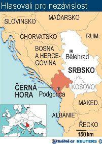 Mapa Srbsko A Cerna Hora Aktualne Cz