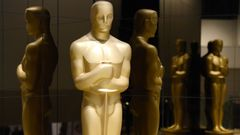 An Oscar statue is seen at the nominations announcement for the 87th Academy Awards in Beverly Hills, California
