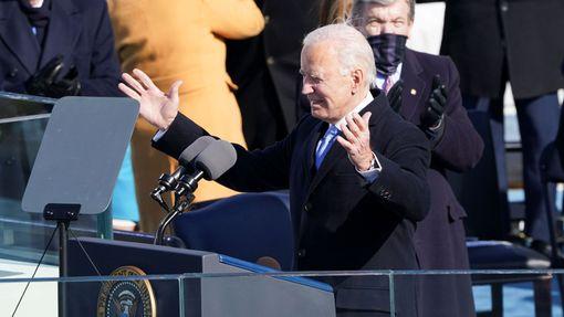 Americký prezident Joe Biden během své inaugurace.