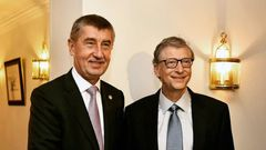Andrej Babiš / Bill Gates / 18. 10. 2018 / Brusel