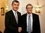 Babiš a Bill Gates: Český premiér se chlubí západní půlkou své tváře. Buďme rádi