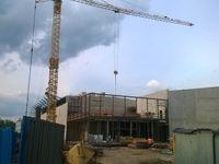 Stavbu haly v Prostějově prosazoval Faltýnek, platil anonymní věřitel. Dotace nepřišla, práce stojí