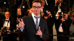 "Jury member director Nicolas Winding Refn pose on the red carpet as he arrives for the screening of the film ""Captives"" in competition at the 67th Cannes Film Festival in Cannes"
