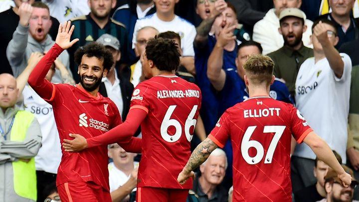 Salah vstřelil 100. gól v Premier League, výhru Liverpoolu pokazilo vážné zranění; Zdroj foto: Reuters